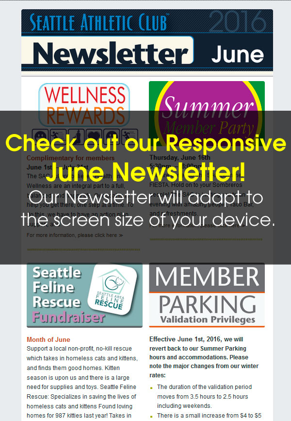 Seattle Athletic Club Downtown - June 2016 Newsletter