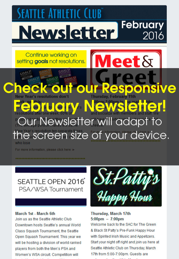 Seattle Athletic Club Downtown - February 2016 Newsletter