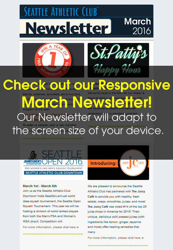 Seattle Athletic Club Downtown - March 2016 Newsletter