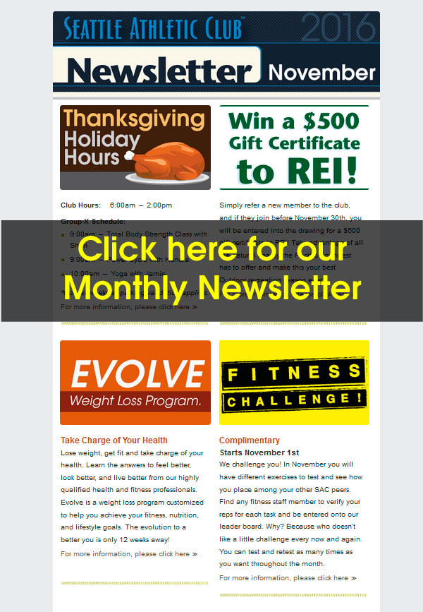 Seattle Athletic Club Downtown - November 2016 Newsletter